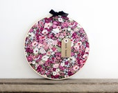 Memo Board/Cork Board /Purple Floral Liberty of London Cork Board with Pins/ Organization/Wall Decor/Home/Home Office