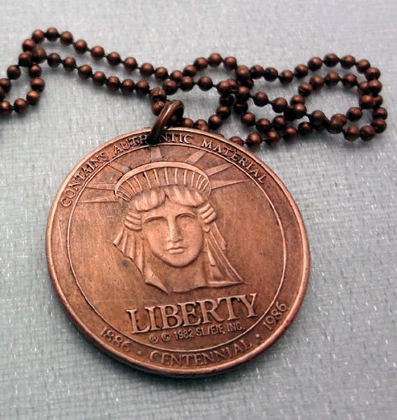 Coin Jewelry Vintage Statue Of Liberty Token By