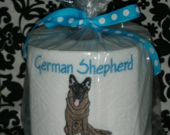"German Shepherd ""Poo Poo Paper"" Toilet Paper - For the dog lover who has everything... Great Gift"