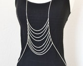 Silver Body Chain Harness Boho Bohemian Style Gypsy Layer Chainmaille Summer Body Jewelry