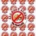 No Peanuts Sticker, Allergy Sticker, Peanut Allergy Sticker, Allergy Alert Sticker, Personalized Allergy Sticker (152)
