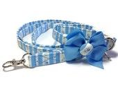 Shabby Chic Blue Dog Leash Set size Extra Small
