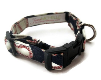 Baseball Dog Collar size Extra Small