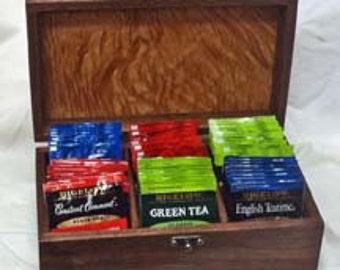 Tea Packet Organizer and Storage Box