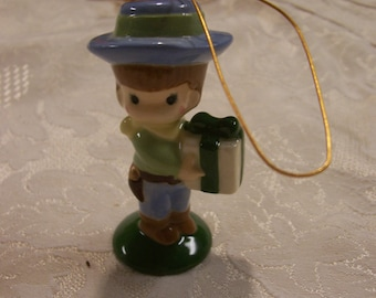 Joan Walsh Anglund Ornament Little Boy Christmas Ornament 1970s