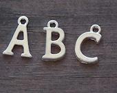 26 Silver Alphabet Charms Full Set 16mm
