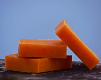 Sweet Orange and Patchouli Soap, Handmade, All Natural, Cold Process Soap, Vegan