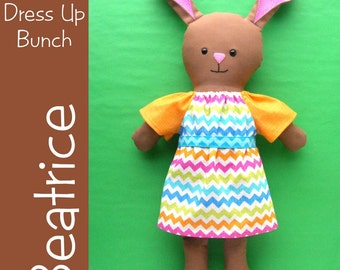 Beatrice - a Dress Up Bunch Bunny Rag Doll PDF Sewing Pattern (Easter Bunny)