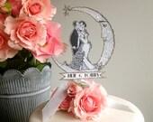 Vintage Wedding Cake Topper - Vintage Inspired - Bride And Groom- Customized