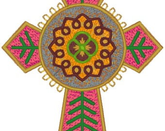 4x4 Religious Crosses Machine Embroidery Designs zip file PES format.
