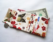 Red Cotton Fabric Wallet