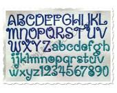 Penguin Machine Embroidery Font Monogram Alphabet - 3 Sizes