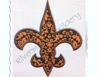 Fleur De Lis Applique Machine Embroidery Design - 4 Sizes