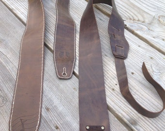 Handmade leather guitar strap that will make your guitar jealous