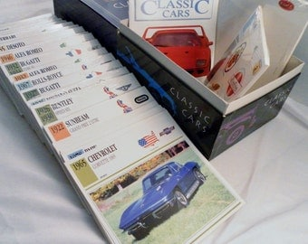 Vintage 1991 Atlas Classic Cars Collectors Card Set In Box. 18 Unopened Pkg, 23 Loose Cards,  Divider Pack & Booklet.  Appx 400 Total.