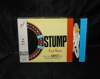 Vintage 1968 Stump Card Game by Milton Bradley Put the Squeeze on Your Opponents Board Game W Box