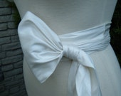 Ivory Dupioni Silk Sash  various shades available & various ways to tie