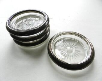 Silver Coaster Set - Vintage Silverplate - Jewelry Tray - Trinket Dish