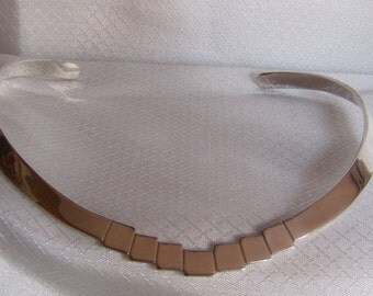 Taxco Mexico Sterling Choker, Art Deco Inspired