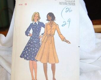 Vintage Butterick Pattern 5733 -  Unused -  Size 8 -Factory Folded  Uncut