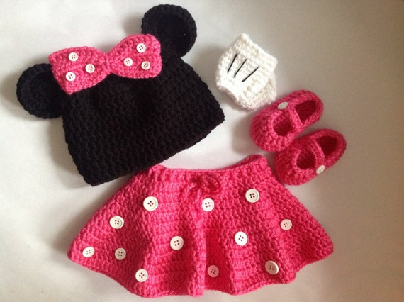 Items similar to Handmade Crochet Minnie Mouse Inspired ...