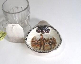 Vintage Sandland Ware Pin Dish or Tea Bag Holder