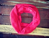 Cherry Red Knit Infinity Scarf available in baby child adult