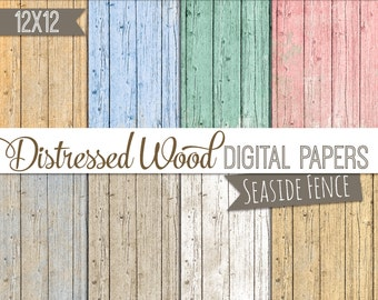 Digital Paper Pack- Pastels - Wood Digital paper- 12 x 12, INSTANT DOWNLOAD, commercial use included