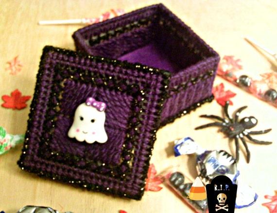 Kawaii Halloween Ghost Trinket Box