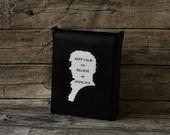 Sherlock Bag Black Leather Messenger Bag