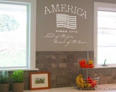 AMERICAN FLAG, Since 1776 Wall Decals: Large Wall Art - PA019