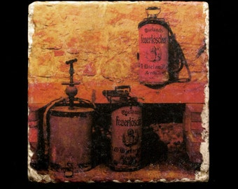 Coaster/Trivet - Antique Fire Extinguishers