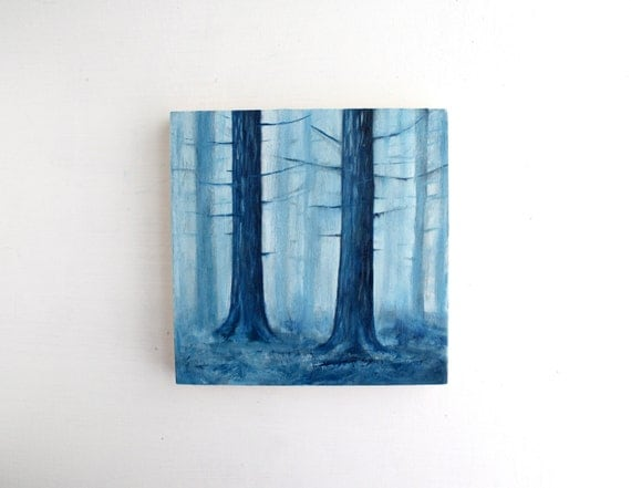 Forest Oil Painting - 6 x 6