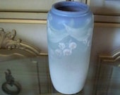 STUNNING WELLER POTTERY Hudson Light Vase With Wisteria Flower Design 1920's Rare Arts and Crafts Pottery