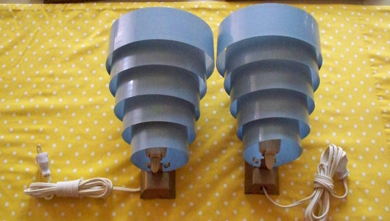 Mid Century Lighting Wall Sconce Pair Poul Henningsen Style