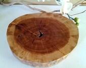 TREASURY ITEM - Natural  Oak Tree Trunk Slice - Wedding decor - Holiday tray - trivit - Home decor accessory
