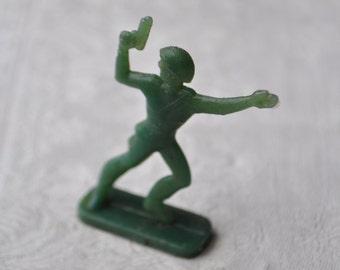 Vintage Soviet Russian plastic toy Soldier figurine.