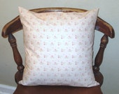 Shabby Chic Pink Rose Throw Pillow 16 X 16 Pillow Cover