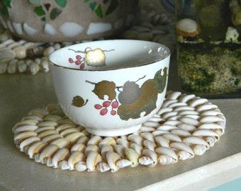Beautiful Asian Tea Cup Fall Colors Vintage