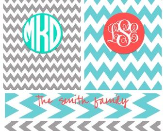 Printable Binder Cover with Spine--Design Your Own Monogrammed or Personalized
