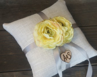 Custom Ring bearer pillow You personalize with choice of flower 10% discount promo code SPRING entire shop
