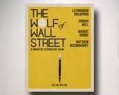 The Wolf of Wall Street Minimalist Movie Poster / Wall Art / Movie Film Poster