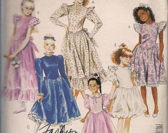 1987 Sewing Pattern McCall's 3391 girls dress size 8