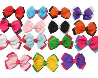"""15 Pc Wholesale lot 3"""" Boutique Bow for Girl Hair Accessories with Alligator Clip"""