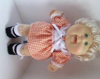 """14"""" Baby Cabbage Patch Orange and White Dress Set"""