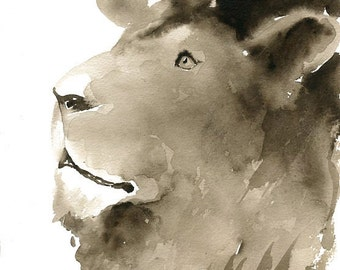 LION-11x14inch Print (Large size)-home decor--animal art-poster-nature art