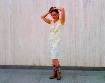 Vintage floral dress 1960s  1970s