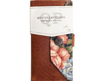 Women's - Handmade Walnut Leather Floral Wallet