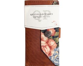 Women's - Handmade Walnut Leather Floral Wallet