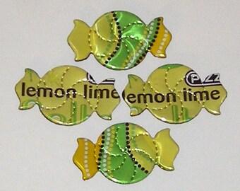 4 Lemon Lime Candy Magnets